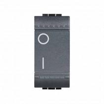 Interruttore 2P 16AX 250V ac - colore Antracite Bticino Livinglight L4002N