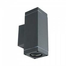 V-TAC VT-841 GU10 wall fitting 2 way up&down square aluminium dark grey body IP44 – SKU 8627