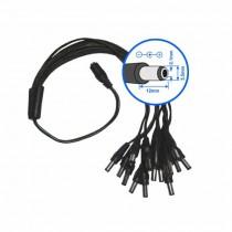 Splitter double DC power 5,5 mm Câble Y 16 sorties