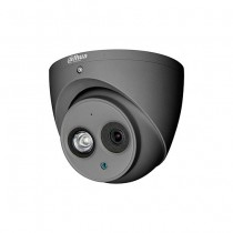 Dahua HAC-HDW1200EM-A-S4-DG  caméra dome hybride 4in1 2Mpx 2.8mm gris mat osd audio ip67