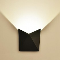 V-TAC VT-825 Lampada LED COB 5W da parete alluminio nero wall light bianco naturale 4000K IP65 - SKU 8283