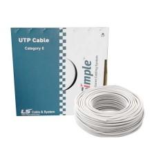 305Mt cable U / UTP cat 6 LAN 4x2 AWG 23 PVC copper 250MHz LSZH 75C