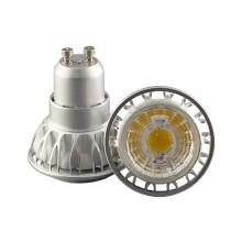 Led spotlight gu10 7w 220v cob 350lm cold white 6000K