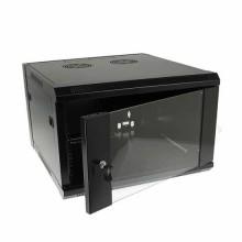 """Hanging Rack Cabinet Black RAL9004 19"""" 6U 600mm"""
