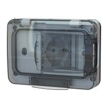 WIDE IP55 inklusive zweiwertiger Schuko-Buchse für 3 Module Einbettungsbox RAL 7035 4BOX 4B.W.RAL.015