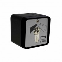 Black-varnished, surface-mounted key switch SET-EN