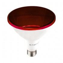 V-TAC VT-1227 Lampadina led smd 17W E27 PAR38 luce rossa waterproof IP65 - SKU 92065