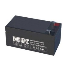 12V 3,2Ah rechargeable VRLA battery Elan BigBat - sku 01203