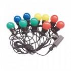 V-TAC VT-70510 catenaria luminosa led rgb lampadine 10pcs 5M raccordabile con ingresso e uscita 2PIN IP44 - sku 7435