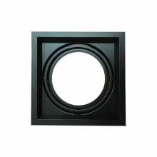 Portafaretto incasso alluminio quadrato orientabile 1xAR111 - Mod. VT-7221 - SKU 3581 - Nero