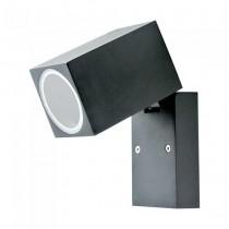 V-TA VT-7611 Wall Fitting GU10 adjustable head aluminium black IP44 - sku 7553