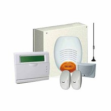 Complete kit burglar alarm wired with gsm Plus central AMC 178