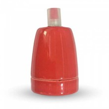 V-TAC VT-799 E27 Lampenfassung rot porzellan IP20 - SKU 3799