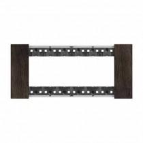 Placca Bticino Living Now 6 Moduli colore legno Noce KA4806LG