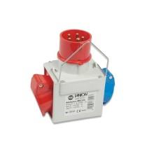 Adattatore multiplo industriale spina 3P+N+T 16A 380-415V 1 presa 2P+T 16A 200-250V 1 presa 3P+T 16A 380-415V 6h IP44 Fanton 73112