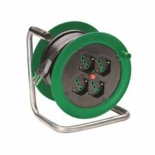 Enrouleur de câble 15M 3G1,5 S17 norme italienne avec 4P40+tc découpe thermique Fanton 146101