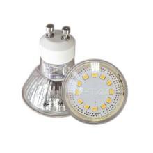 Lampadina Spot LED 3W GU10 120° luce bianco caldo