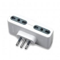 V-TAC Adaptateur multiple électrique 4 prises 10/16A 2P+T norme italienne - sku 8726