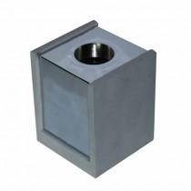 V-TAC VT-860 Portafaretto soffitto quadrato in gesso grigio con bordo metallo cromato per 1xGU10-GU5.3 - sku 3142