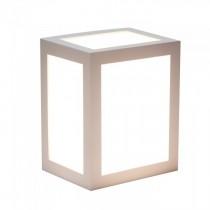 V-TAC VT-822 12W led wall light cube white body warm white 3000K IP65 - SKU 8334
