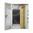 Rack alimentazione a commutazione 12V DC 10A 18x560mA CCTV
