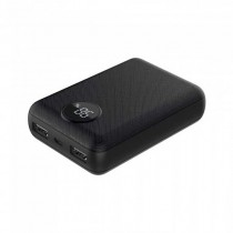 V-TAC VT-3501 Power Bank 10.000mah Digital display 2 output micro USB 2.1A abs black body - sku 8188