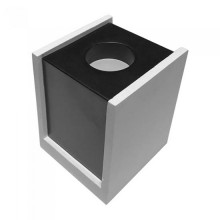 V-TAC VT-860 1xGU10-GU5.3 Concrete square white surface mounting gypsum with metal gun black for Spotlights - sku 3140