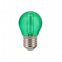 V-Tac VT-2132 Bulb mini globe LED E27 2W G45 filament smd green colored glass - SKU 7411