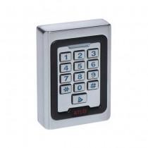 Tastiera serratura a combinazione 12V con lettore RFID da parete Metallo IP40