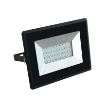 V-TAC VT-4031 30W LED floodlight ultra slim e-series day white 4000K black body IP65 - SKU 5953