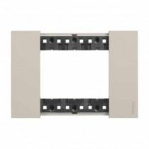 3 modules Bticino Living Now plate sand color KA4803KM