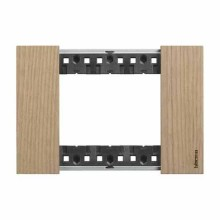 3 modules Bticino Living Now plate wood oak color KA4803LM