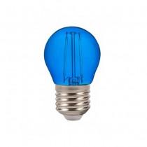 V-Tac VT-2132 Lampadina Bulbo 2W E27 G45 filamento vetro colorato blu - SKU 7412