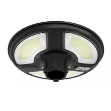 V-TAC VT-65W Lampione LED 10W da giardino autoalimentata a batteria con pannello solare e sensore integrato 6400K con telecomando RF IP65 - SKU 5153