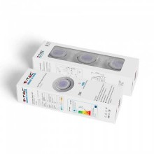 KIT super saver pack V-TAC VT-3333 3pcs/pack 5W LED spot birne GU10 3000K mit Befestigung Weißen Körper verstellbar - sku 8881