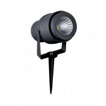 V-TAC VT-857 Picchetto giardino led cob 12W orientabile grigio IP65 bianco caldo 3000K - SKU 7550
