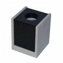 V-TAC VT-860 Gypse gris carré en béton montage en surface avec métal noir pour Spotlights 1xGU10-GU5.3 - sku 3143