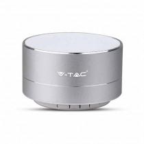 V-TAC SMART HOME VT-6133 Speaker bluetooth LED 3W portatile multifunzione microfono e ingresso microsd e radio FM - sku 7713