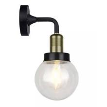 V-TAC VT-720 Portalampada da giardino wall lamp facing down corpo metallo nero e bronzo IP65 E27 - sku 8970