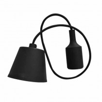 E27 Decoration Pendant Holder 1MT - Mod. VT-7228 SKU 3478 - Black