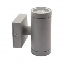 Lampada da parete esterna grigia IP54 2x E27 Kanlux BART EL-260  Mod.07082