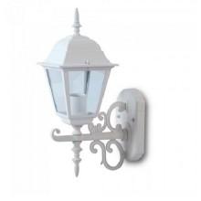 V-TAC VT-760 Garden Wall Small Lamp IP44 Facing Up white body Holder E27 - sku 7520