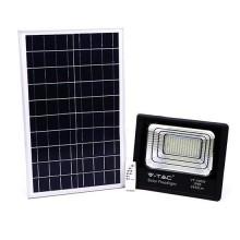 V-TAC VT-100W 100W LED Solarscheinwerfer mit IR-Fernbedienung kaltweiß 6000K Schwarzer Körper IP65 - 94012