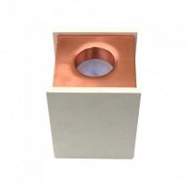 V-TAC VT-860 1xGU10-GU5.3 Concrete square white surface mounting gypsum with metal matt rose gold for Spotlights - sku 3115
