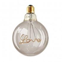 V-TAC VT-2205 Lampadina led scritta Love 5W globo filamento E27 G125 vetro ambrato oscurato bianco caldo 2200K - SKU 2700