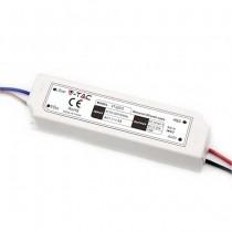 V-TAC VT-22075 Alimentatore slim led 75W 12V 6A waterproof IP67 in plastica cavi a saldare  - SKU 3235