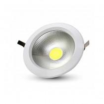 V-TAC VT-26101 10W led COB downlight round cold white 6400K - SKU 1272