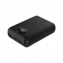 V-TAC VT-3501 Power Bank 10.000mah Digital display 2 output micro USB 2.1A abs black body - sku 8188