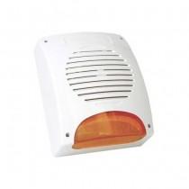 Self-powered external siren 12V 120dB Flash LED 10W ABS Blanc SIR24