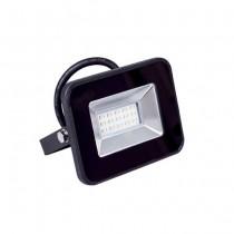 V-TAC VT-4611 10W LED floodlight super slim i-series cold white 6400K black body IP65 - SKU 5877